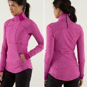 Lululemon Base Runner Half Zip Raspberry Pink (4)